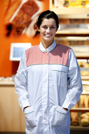 Portrait of a smiling supermarket employee Stock Photo - 8432675