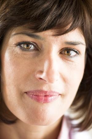 rides: Gros plan sur une belle femme mature Banque d'images