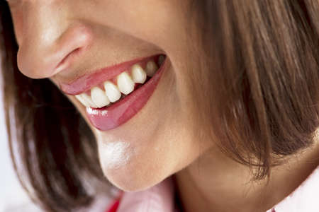Close-up of a beautiful woman smile photo