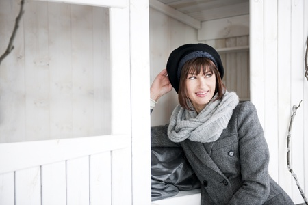 Beautiful Woman In Winter Clothes Stock Photo - 8677864