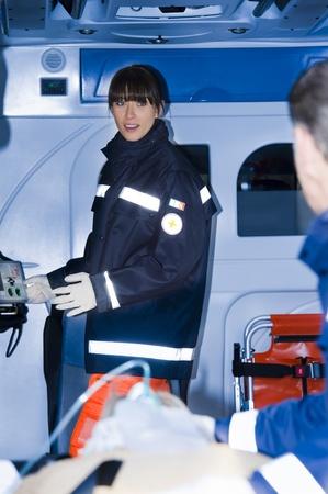 life threatening: Paramedics  With Patient