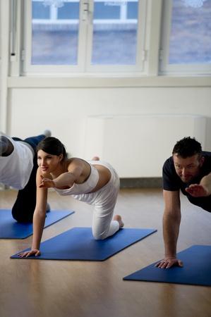 yoga class: People Doing Yoga, Balance