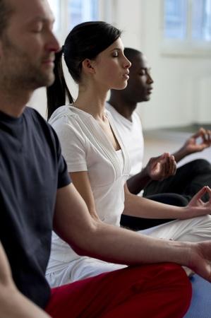 People  meditating Stock Photo