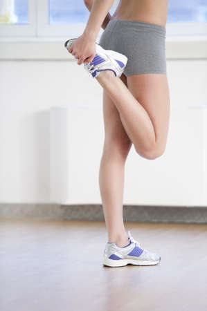Close-up of beautiful female legs at gym Stock Photo - 8943336