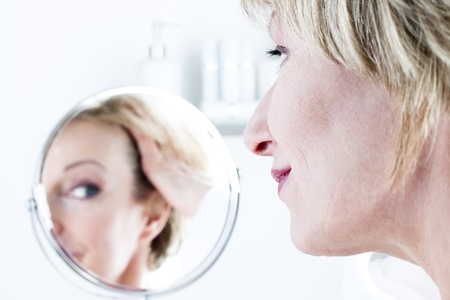 Woman In The Mirror Stock Photo - 8943513