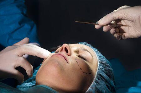 Woman receiving Plastic Operation photo