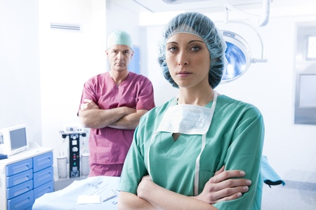 Portrait of a medical team inside operating room Stock Photo - 8943683