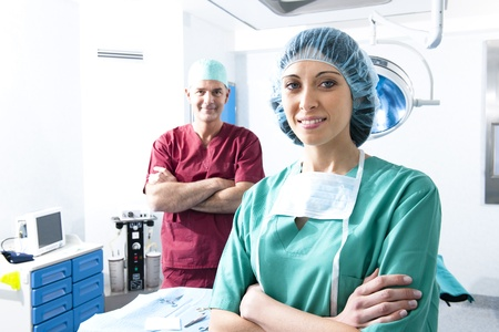 Portrait of a medical team inside operating room Stock Photo - 8943743