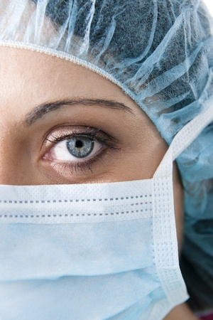 Close-up of a Female surgeon photo