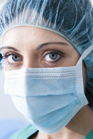 Close-up of a Female surgeon Stock Photo - 8943769