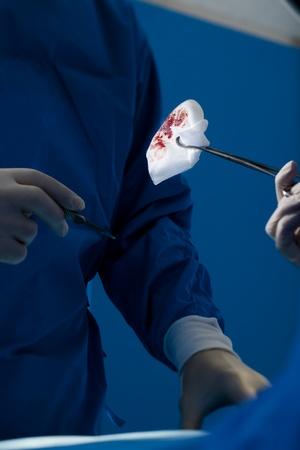 Close-up of surgery oepration photo