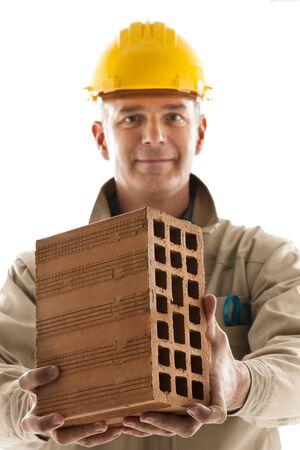 Portrait of a construction worker photo