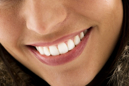 teeth white: Close-up of a beautiful woman smile