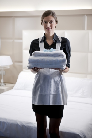 hotel worker: Hotel maid Stock Photo