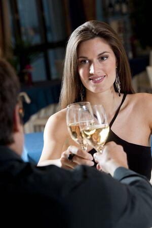 ear ring: Elegant Couple at The Restaurant
