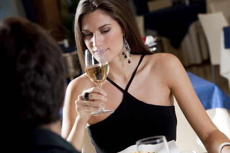 Elegant Couple at The Restaurant photo