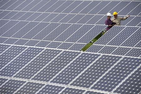 Techniker Inspektion auf der Solar Power Station