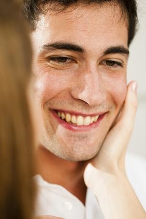 caress: Young man receving caress