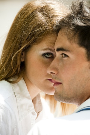 Close-up of a young couple in love Stock Photo - 13036642
