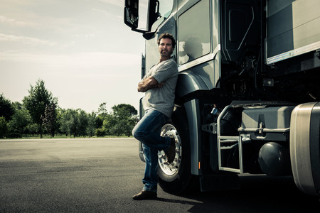 Retrato de un chofer de camión
