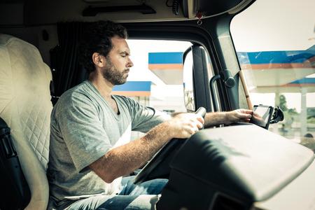 Portrait of a truck driver Foto de archivo
