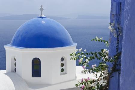 Santorini in White and Blue