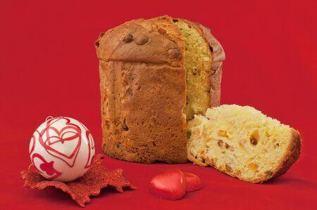 Italian Christmas Cake Panettone, Chocolate and Love Banco de Imagens