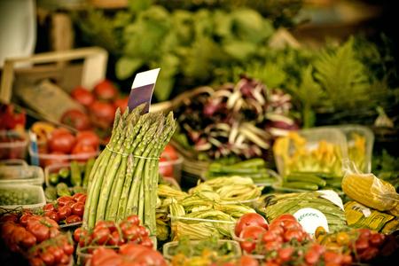 corn flower: Vegetables Market in Rome Campo dei Fiori Bazaar Stock Photo