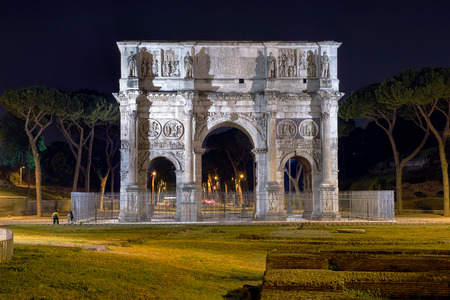 constantine: Arch of Constantine in Rome by Night