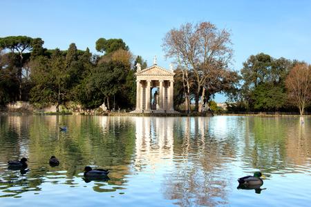 aesculapius: Villa Borghese Lake in Rome