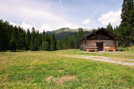 mountain hut: Summer landscape mountain hut