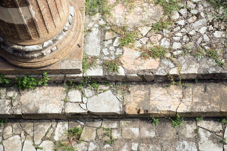 ancient rome: Ancient Rome Ruins Roman Forum Stairway closeup