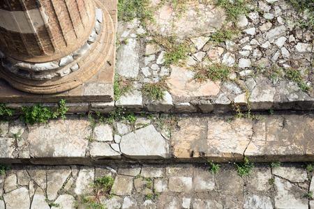 roma antigua: Ruinas antiguas de Roma Foro Romano Escalera de cerca Foto de archivo
