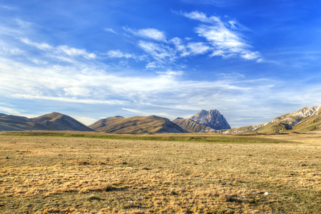 hdri: Gran Sasso of Italy Landscape in Abruzzo Italy HDRI