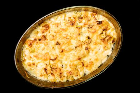 Baked potatoes, vegetarian food self made
