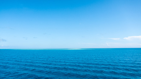 small island in the blue ocean Stockfoto