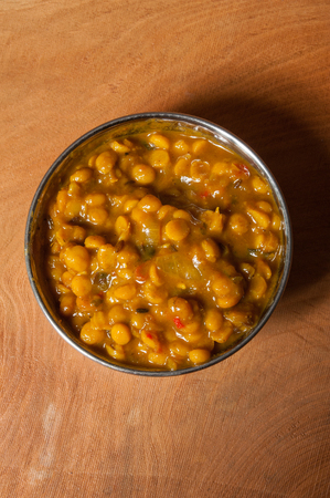 vegan cooking, beans in a bowl