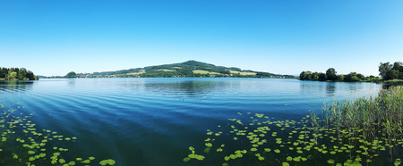 Obertrumersee, a beautiful lake in Austria in summer and autumn
