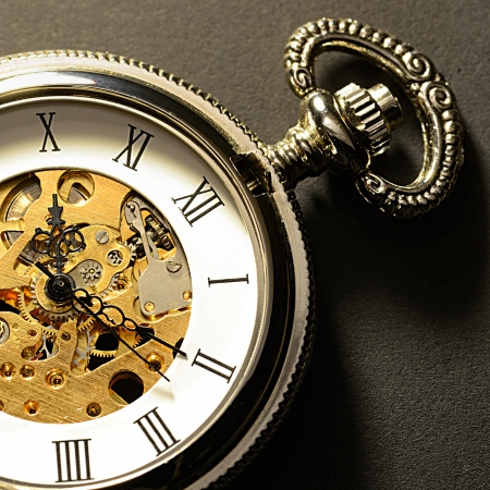 orologi antichi: vecchio macro orologio Archivio Fotografico