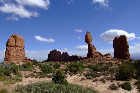 Arches National Park, the beautiful formations of sandstone