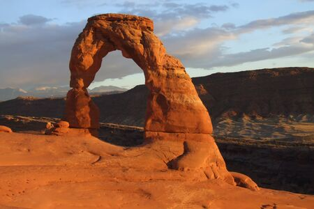 Sunset at Delicate Arch, Arches National Park Imagens