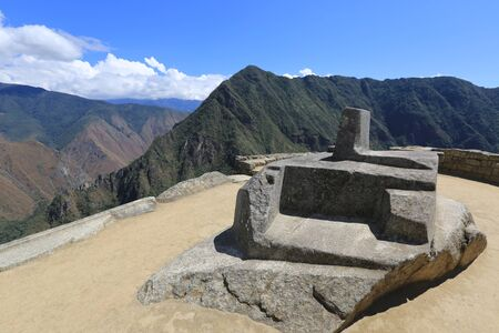 Details of the old city of Machu Picchu