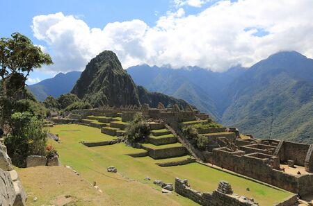 The ancient city of Machu Picchu Banco de Imagens