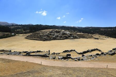 The impressive fortress of Sacsayhuaman, Cusco area