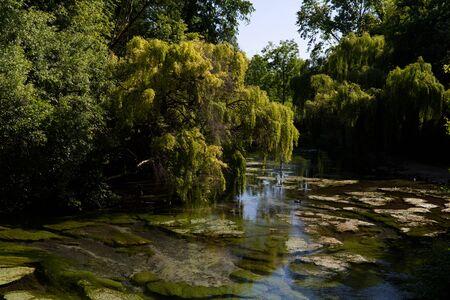 Porcia, Italy, the area of the beautiful lakes 免版税图像