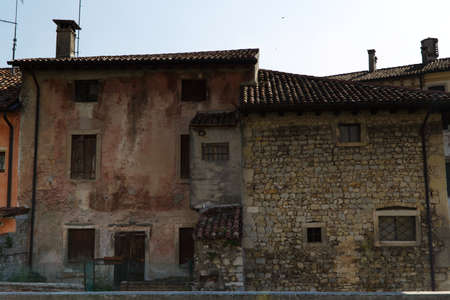 Italy, Vittorio Veneto, detail view of the Serravalle neighborhood