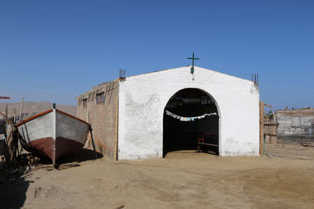 Details of a fishing village in the Paracas National Reserve in Peru