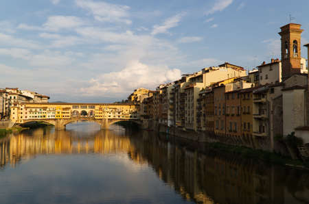 The landscape of the Arno River in Florence