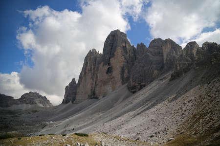 The Three peaks of Lavaredo in the Italian Dolomites