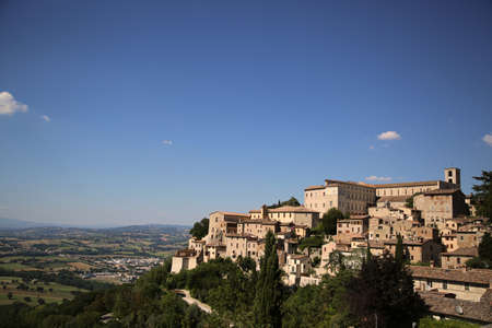 View of the city of Todi in Italy